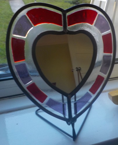 Fused & Stained Glass Mirror